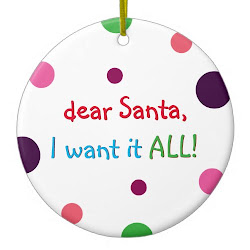 Santa I Want It All | Funny Kids Christmas Ornament