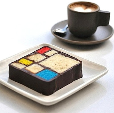Blue Bottle Coffee Mondrian Cake