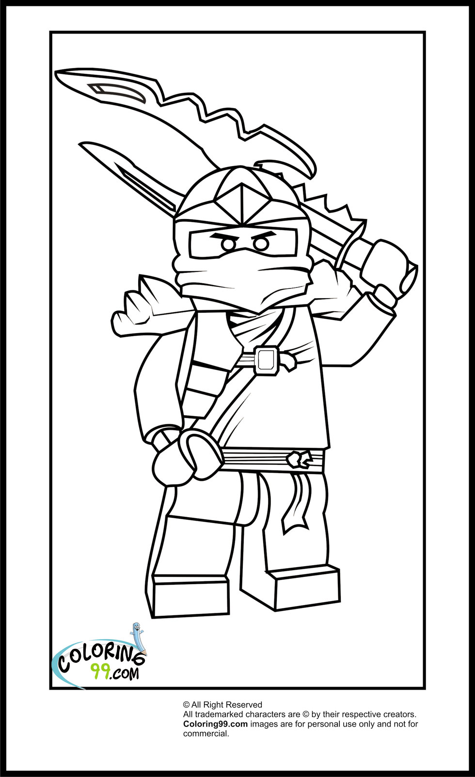 Lego Ninjago Coloring Pages Free Printable Pictures Lego Color Sheet