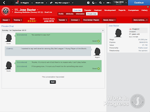FM14 Player Talk Congratulate Personal award