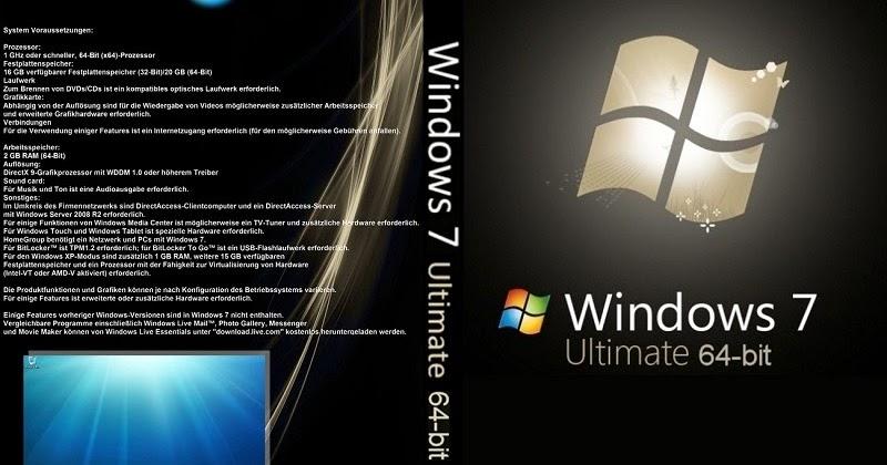 windows 7 ultimate 64 bit features