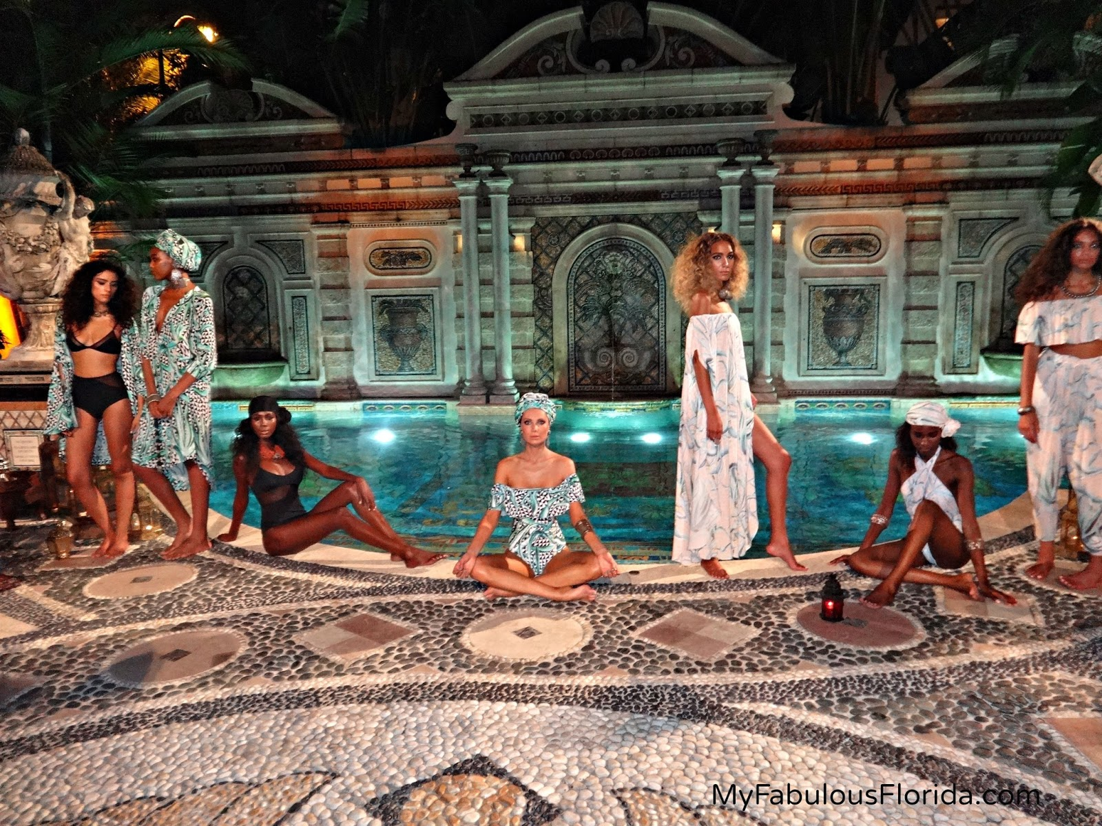 Swim week part 3 the tides hotel versace mansion my for Versace pool design