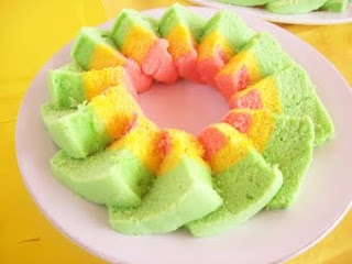 Resep Bolu Kukus Pelangi