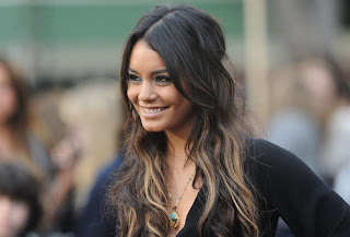 Vanessa Hudgens Long Curly two toned  hairstyle