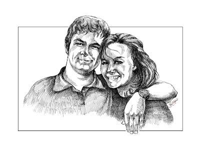 comment dessiner portrait avec un stylo (jeune couple)