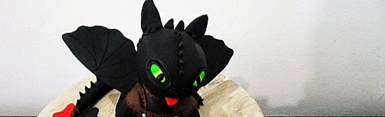 Picture of Toothless dragon cake