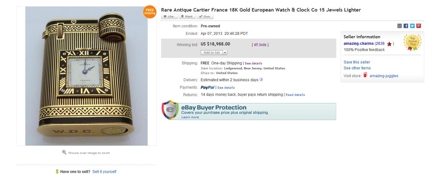 Table lighters collectors\u0027 guide eBay 18K Gold Cartier