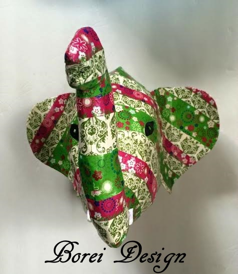 Papier Mache Sculpted Elephant Bust Tutorial With Free Pattern