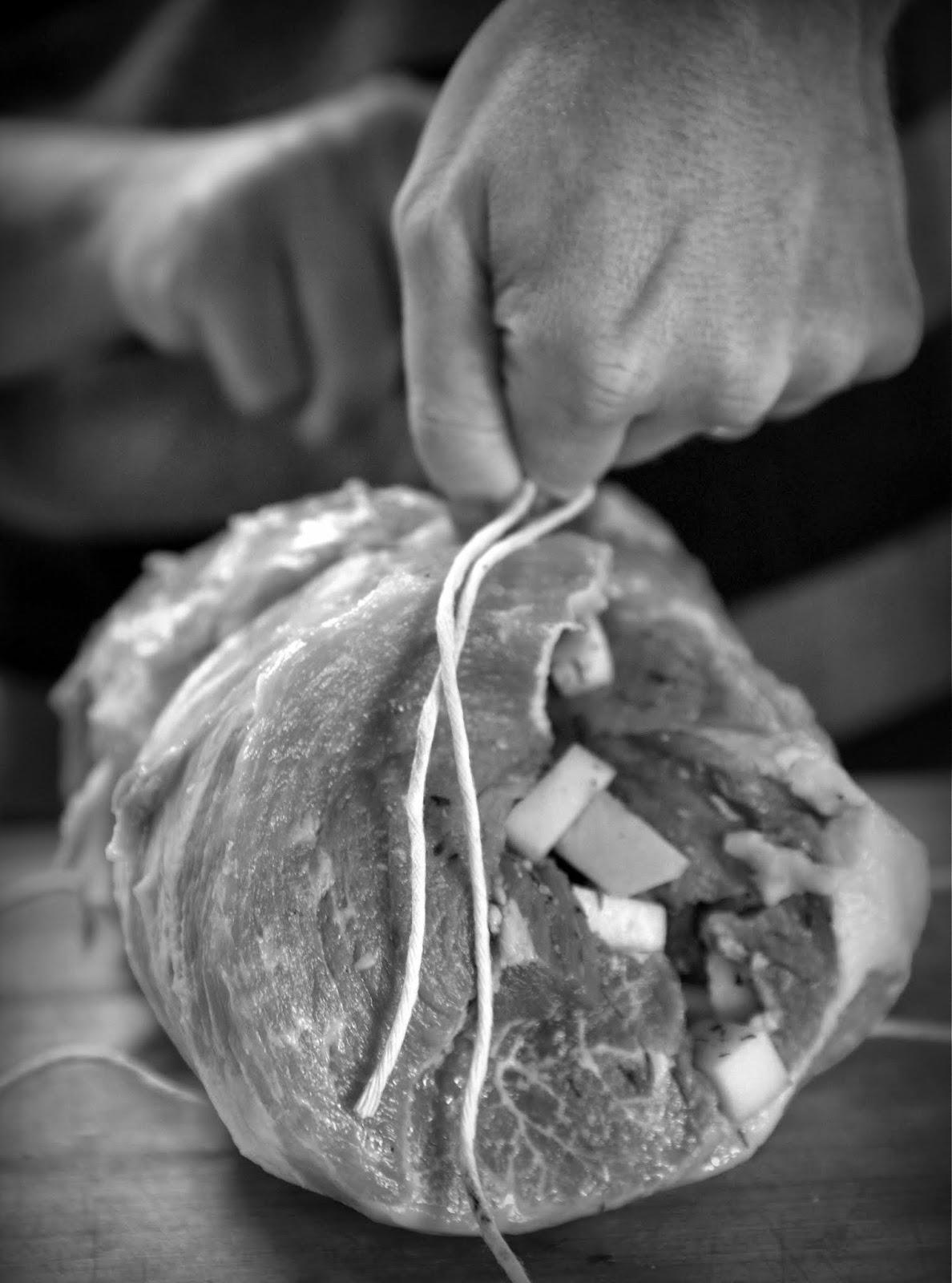 Tying a ham