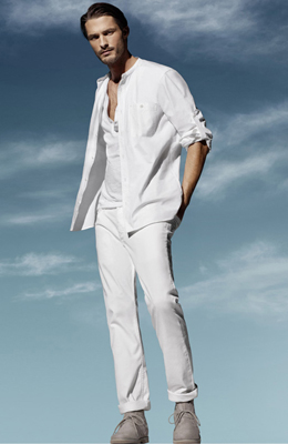 camisa blanca hombre H&M