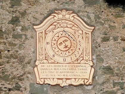 Rellotge de sol del Molí del Menut