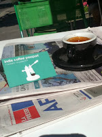 lapresse newspaper, journal lapresse, indie coffee passport montreal, black espresso cup, thridwave espresso, lex albrecht, professional cyclist, womens cycling, champion of quebec