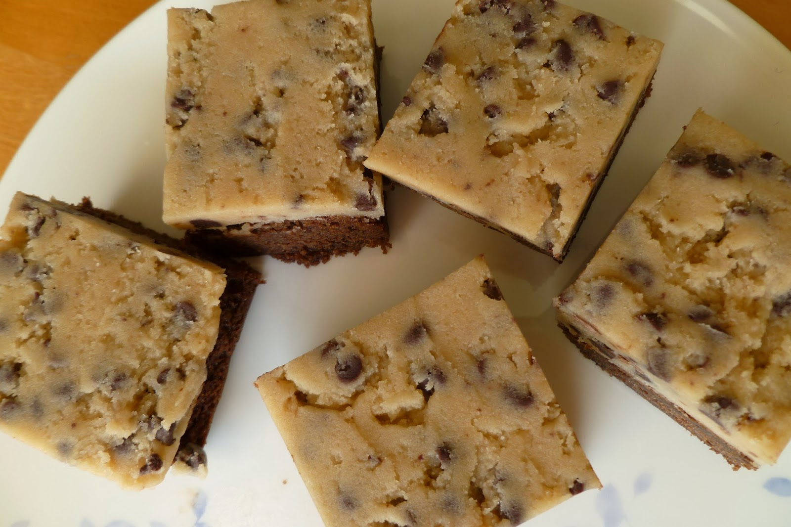 Raw Chocolate Chip Cookie Dough Brownie