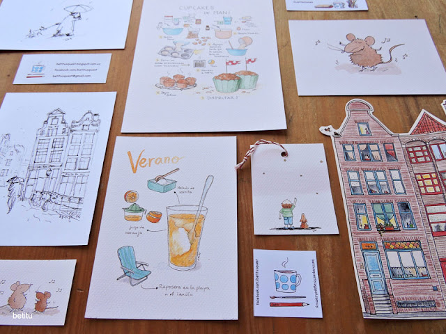 postcards and gift tags by betitu's quest