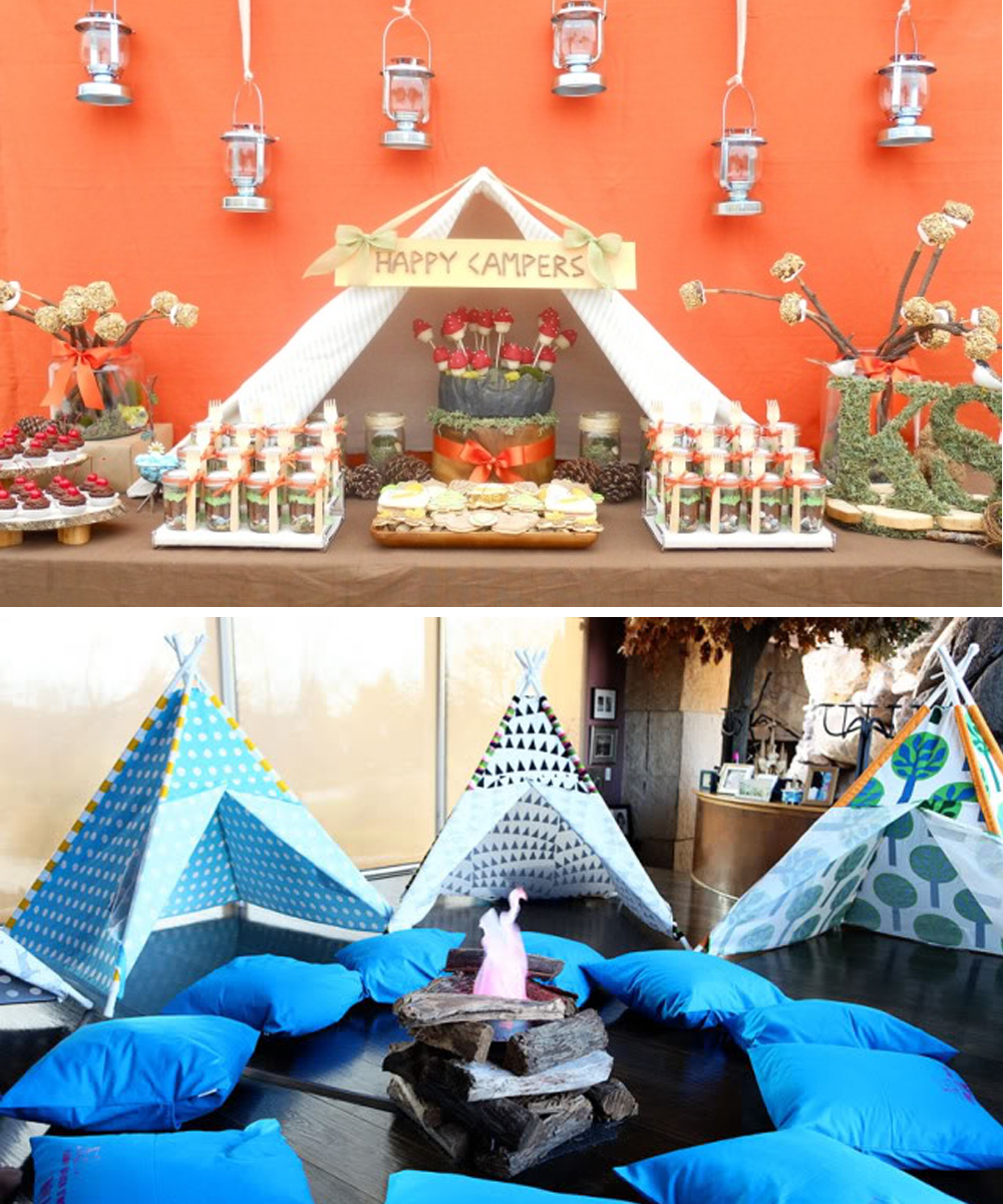 Backyard Camping Party Ideas : Modern Country Designs Backyard Camping Party Ideas
