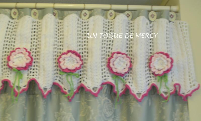 Cortinas De Baño A Crochet:UN TOQUE DE MERCY: CORTINA PARA BANO DE CROCHET