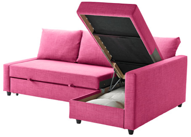 ... pink color, it would be perfect in a teen bedroom or hangout space