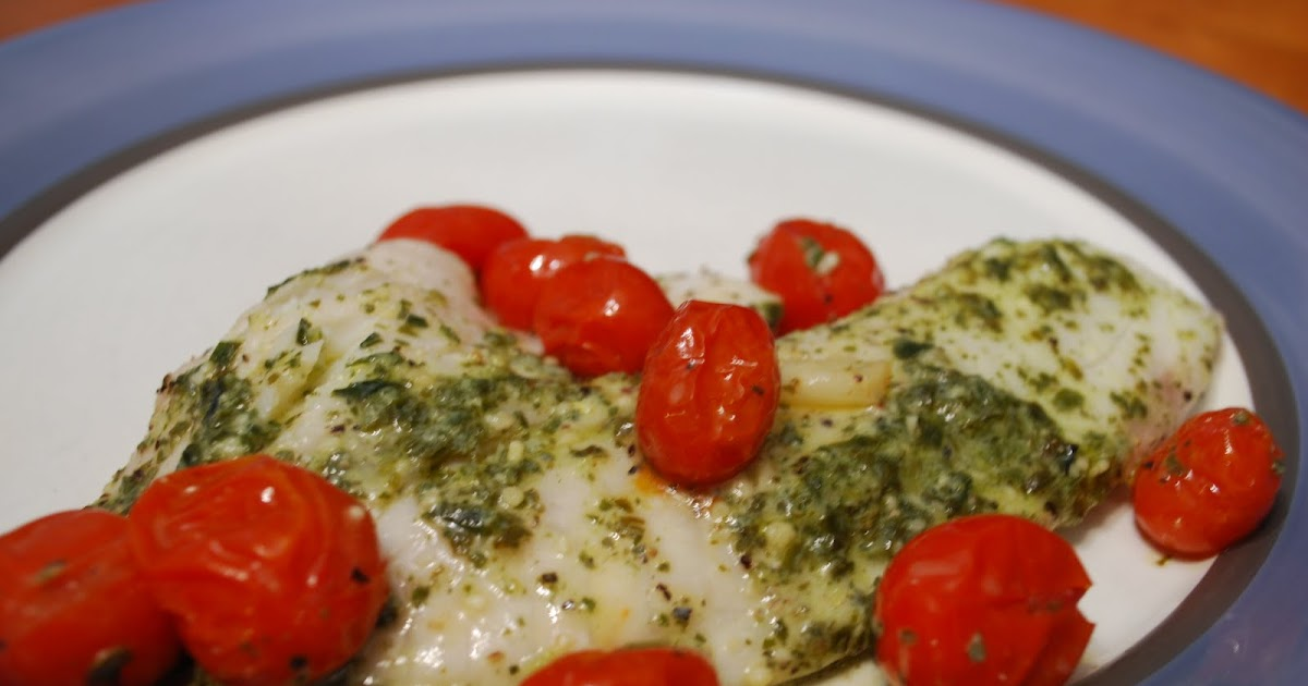 ... This and That: Tilapia with Lemon Pesto and Oven-Roasted Tomatoes