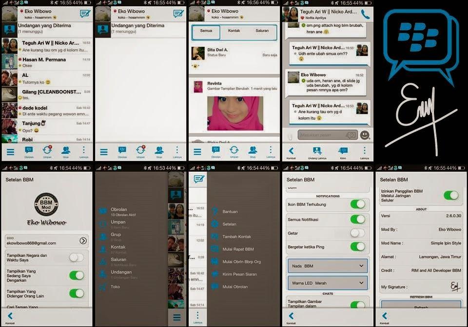 BBM Mod Simple Ipin Style By Eko Wibowo