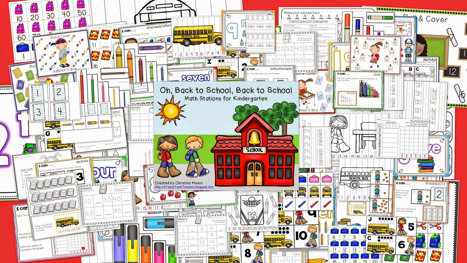 http://www.teacherspayteachers.com/Product/Oh-Back-to-School-Back-to-School-Math-Stations-for-Kindergarten-714079