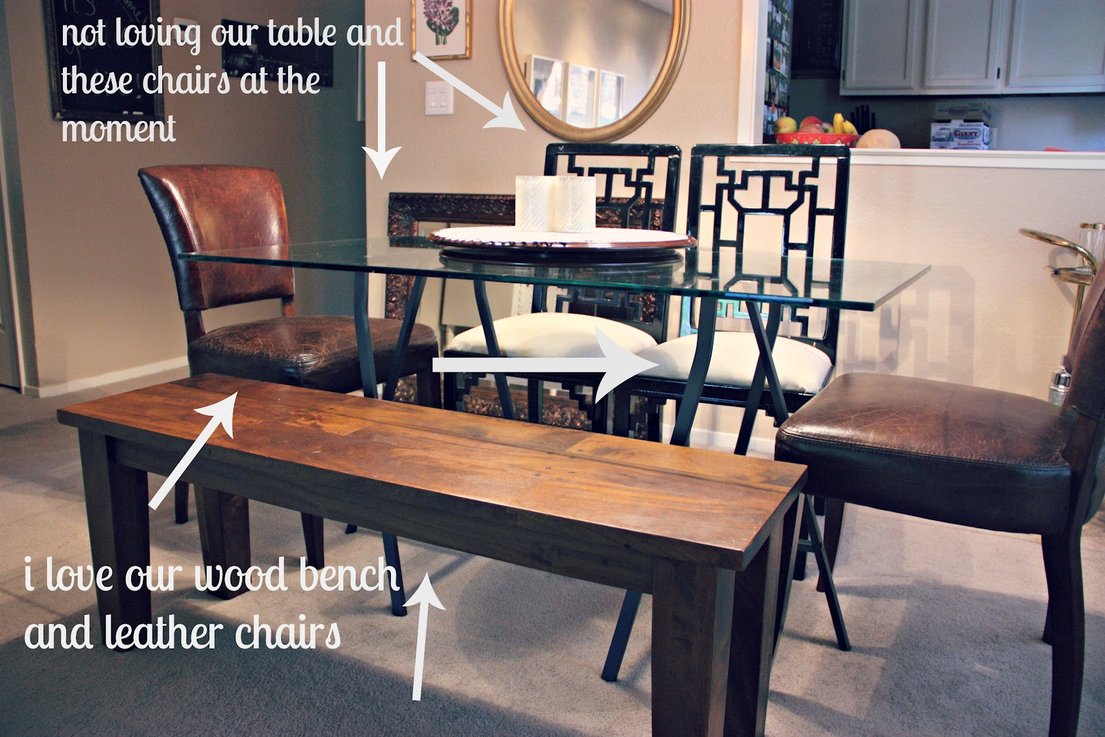 Round or rectangular dining table - Round Or Rectangle Dining Table With Bench