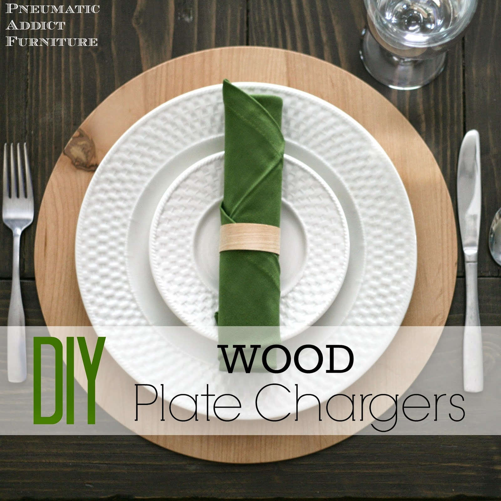 diy wood plate chargers