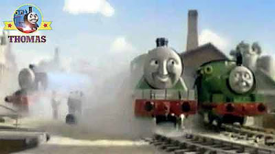 James and Henry the train touring animal circus has arrived in town explained Percy the small engine