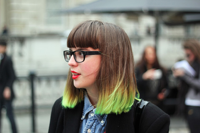green ombre hair colour