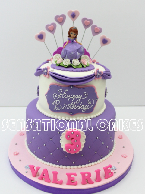 The Sensational Cakes Princess Theme Purple Royal Birthday Cake