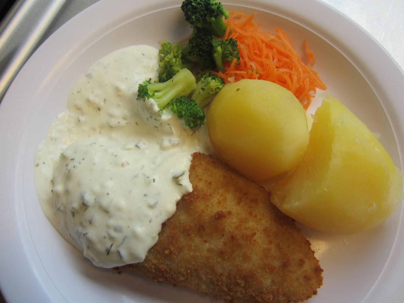 sås till torsk och potatis