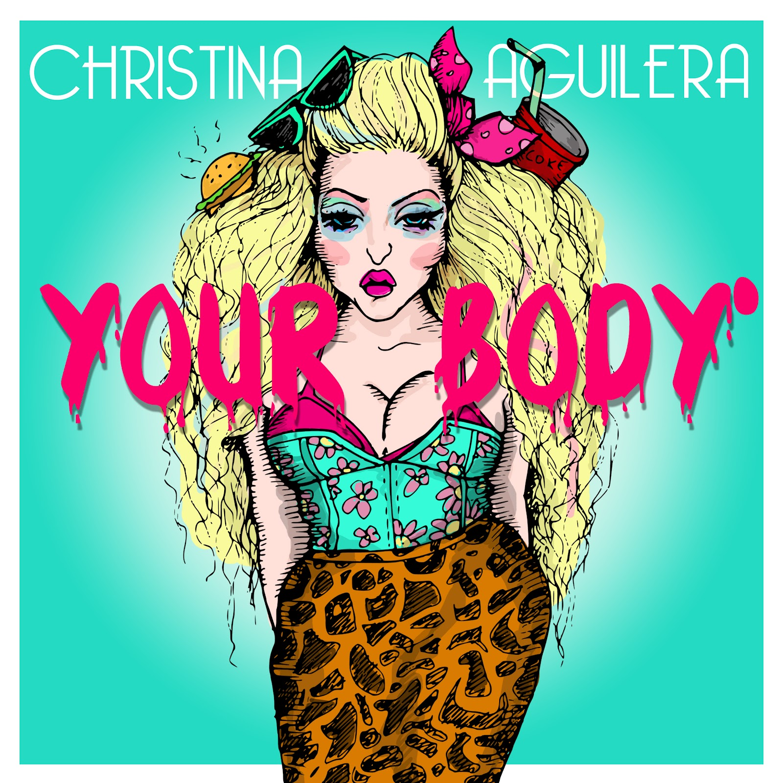 Christina aguilera your body single cover artwork