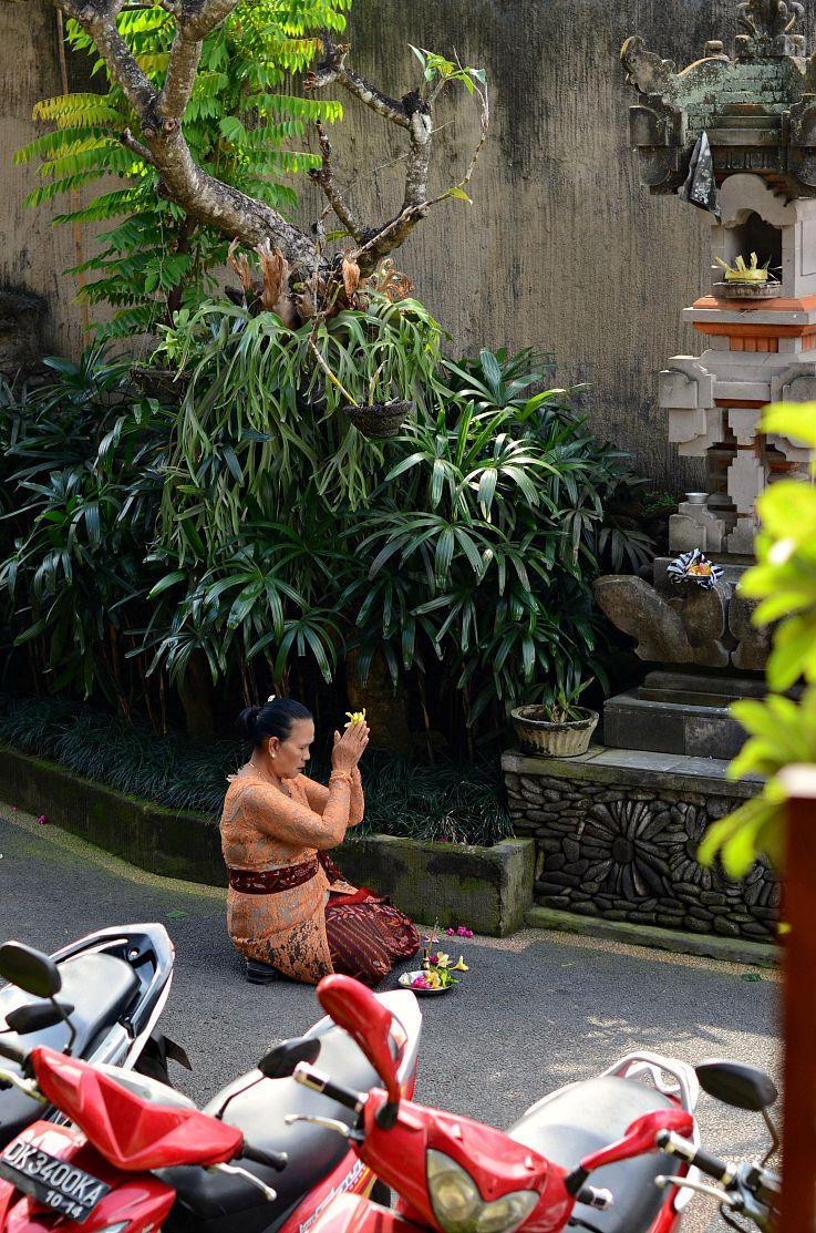 Bali, Indonesia, Offering, Indonesian woman, Ubu Oka,