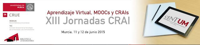 """""""XIII Jornadas CRAI: Aprendizaje virtual, MOOCs y CRAIs""""."""