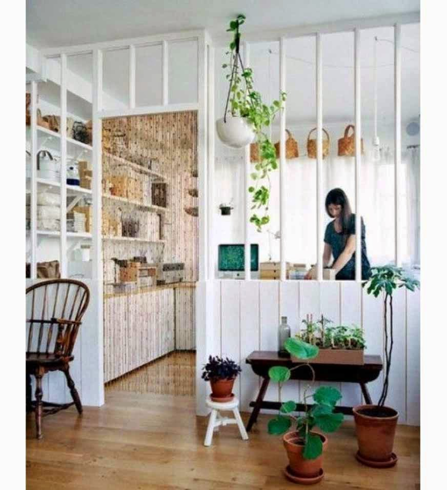 Stylist room dividers with nature theme partition | Interior ...