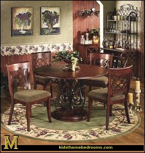 The workers tuscany vineyard style decorating tuscan wall for Dining room decor accessories