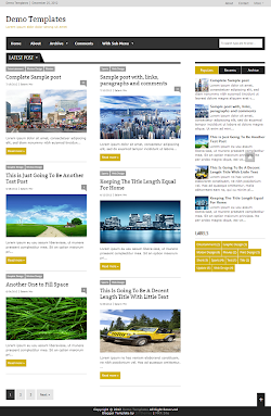 Extra News Yellow Blogger Template