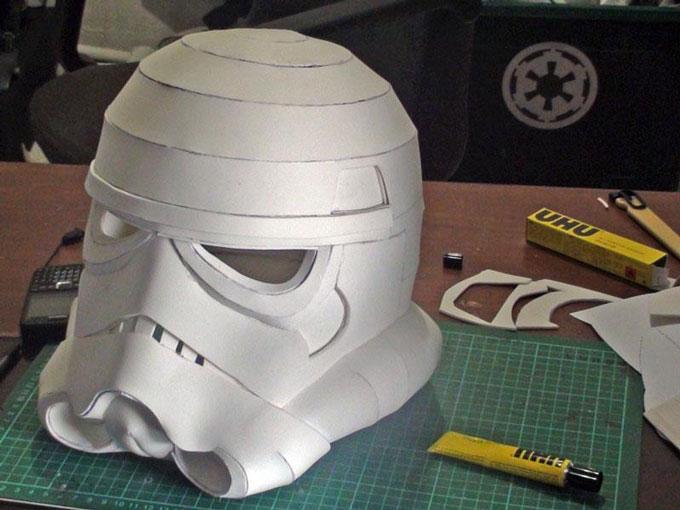 Шлем штурмовика из бумаги своими руками