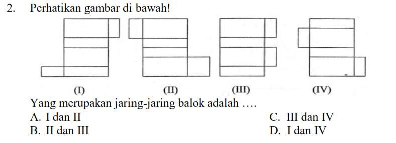 Latihan Kerangka Dan Jaring Jaring Bangun Ruang Matematika