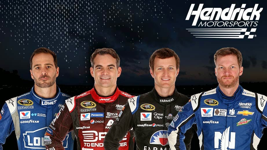 Hendrick Motorsports = Jimmie Johnson, Jeff Gordon, Kasey Kahne and Dale Earnhardt Jr.