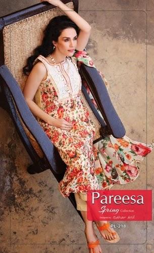Pareesa Lawn 2014