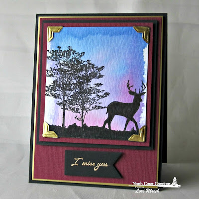 North Coast Creations Stamp sets: Deer Silhouette Greetings, Our Daily Bread Designs Custom Dies: Pennants