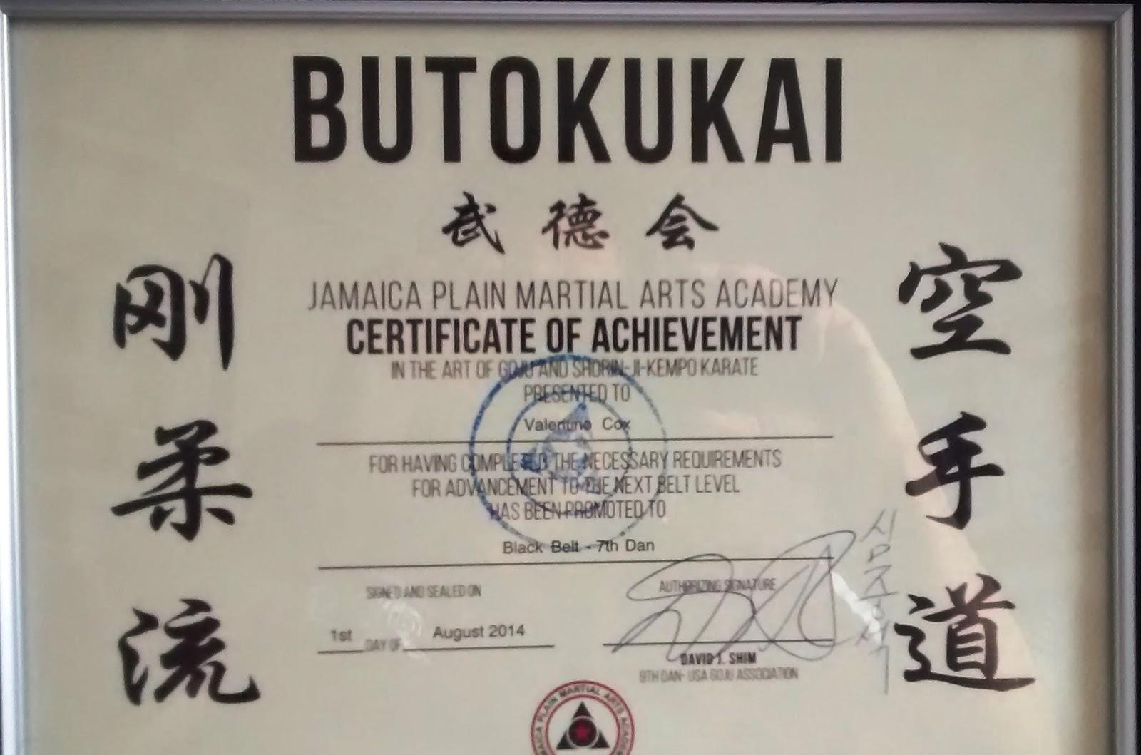 Black Belt 7th Dan In The Usa August 2014 Uechi Go Ryu Karate