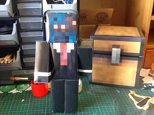 Minecraft spider suit papercraft model