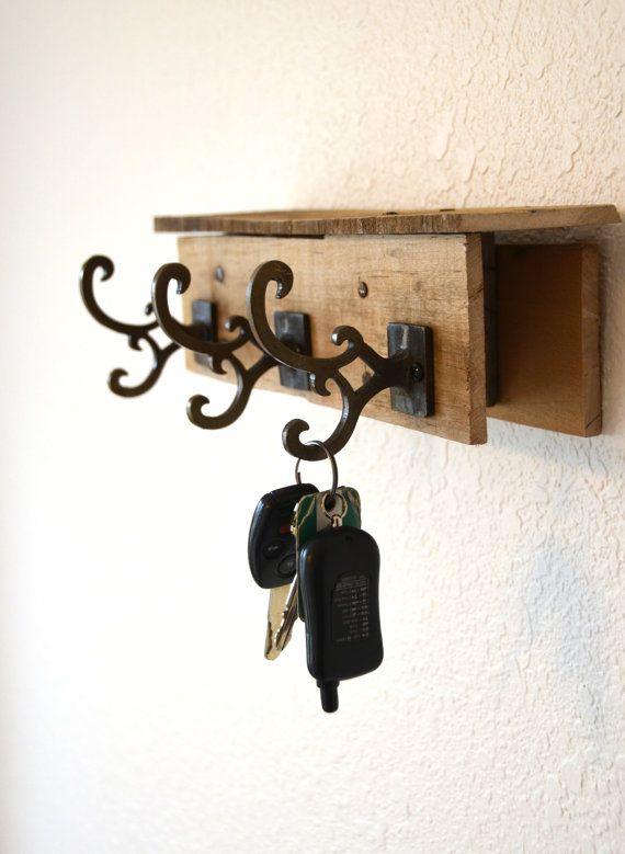 porta chaves de madeira reuso