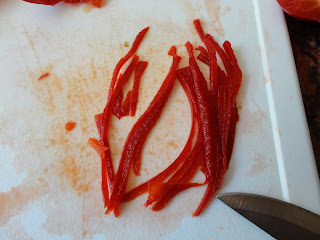 Red Pepper Garnish for Apetina Salad