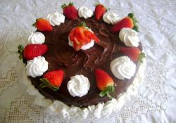 Torta recheio/Morango e chantilly