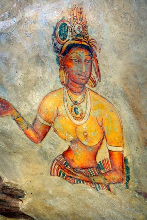 Cave Drawings at Sigiriya