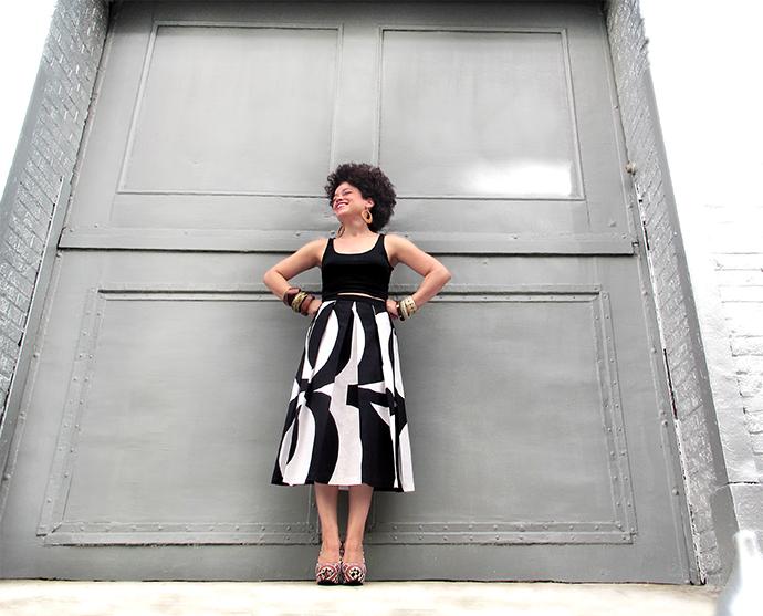 oonaballoona | a sewing blog by marcy harriell | marimekko midi skirt | back in black