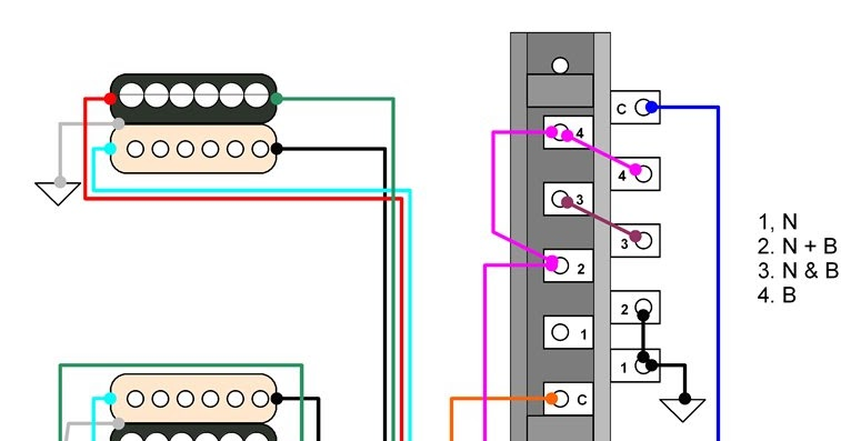 hermetico guitar wiring diagram tele hh 4 way mod with independent rh hermeticoguitar blogspot com hh strat wiring diagram hh wiring diagram 3 way