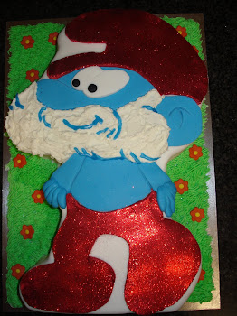 Papa Smurf Cake